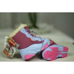 Детские зимние дутики SNOW MAR a розово-голубые