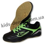 Детские футзалки Lancast 001 ( черно-зеленые )