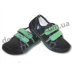 Детские кеды Super Gear A9801 черно-зеленые