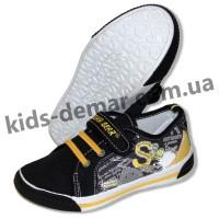 Детские кеды Super Gear черно-желтые 012