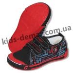 Детские кеды Super gear А 9393 / 9395 (черно-красные)