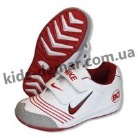 Детские кроссовки Nike бело-красные 002( винил )