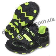 Детские кроссовки ZDL ( ZDILONG ) черно-зеленые