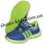 Детские кроссовки Adidas сине-зеленые ( пенка )