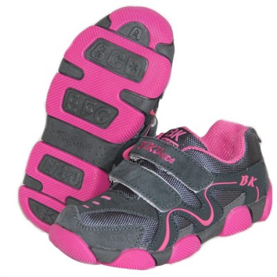 Детские кроссовки BIKU-KIDS серо-малиновые