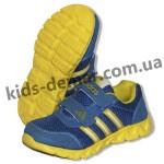 Детские кроссовки Adidas сине-желтые ( пенка )