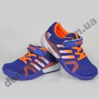 Детские кроссовки Adidas сине-оранжевые