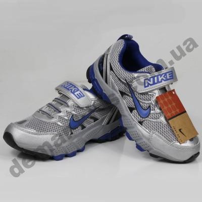 Детские кроссовки Nike серебристо-синие