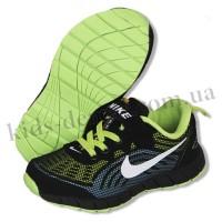 Детские кроссовки NIKE зелено-черно-голубые