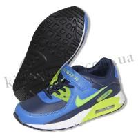 Детские кроссовки NIKE AIR MAX сине-зеленые липучка