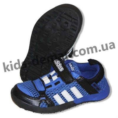 Детские кроссовки Adidas Daroga сине-белые белые сквозная сетка