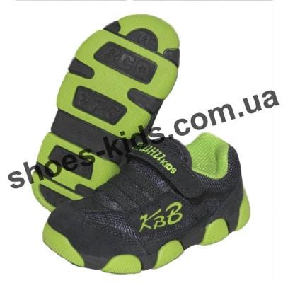 Детские кроссовки X-KUHU-KIDS серо-зеленые