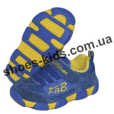 Детские кроссовки X-KUHU-KIDS сине-желтые