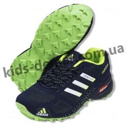 Детские кроссовки Adidas темно-сине-зеленые ( подросток ) NEW