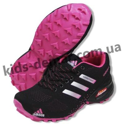 1f155c24e Детские кроссовки Adidas черно-малиновые ( подросток ) NEW