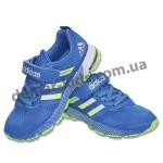 Детские кроссовки Adidas Marathon сине-зеленые (новинка 2016 )