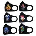 Детские многоразовые защитные маски для лица с логотипом Brawl Stars