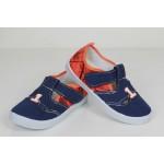 Детские мокасины SUPER GEAR единички сине-оранжевые