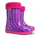 Детские резиновые сапоги HAWAI LUX PRINT hf ( пепита гаваи розовая )
