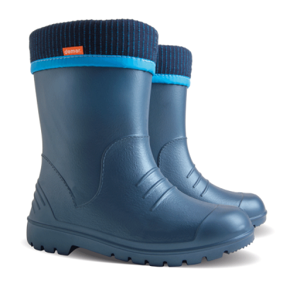 Детские резиновые сапоги Demar DINO D ( синие )